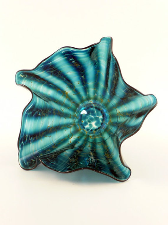 Decorative Blown Glass Bowls Simple Unique Decorative Hand Blown Glass Bowl In Blue Green 2018