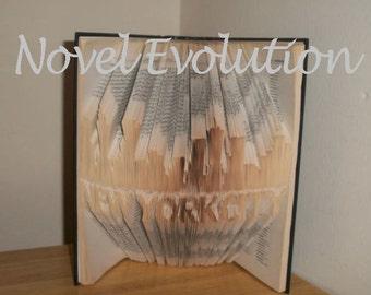 New York City Skyline Book Art Pattern