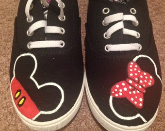 Mickey Mouse and Minnie Mouse Custom Shoes