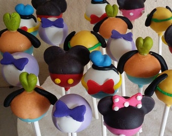 12-mickey mouse clubhouse cake pops