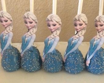 12-elsa frozen cake pops