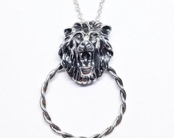 Door Knocker Lion Head Necklace