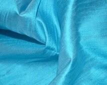 Turquoise Blue dupioni silk fabric Indian dupioni silk or raw silk fabric by Half Yard