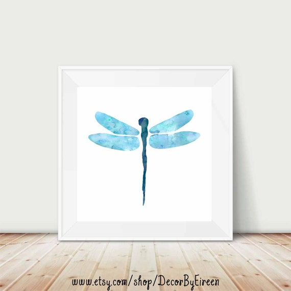 Dragonfly Nursery Wall Decor : Dragonfly nursery art printable square wall