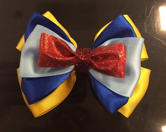 Princess Snow White Inspired Bow