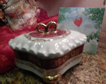 JEWELRY BOX or Candy Dish with Lid
