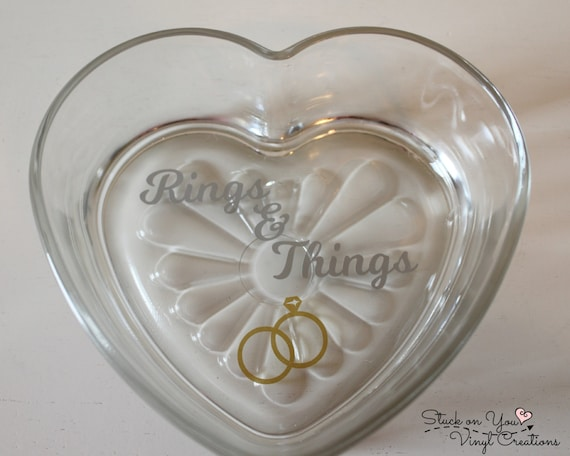 Heart shaped rings things jewelry dish by for Heart shaped jewelry dish