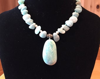 Aventurine necklace with pendant