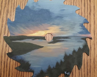 "Painted Saw Blade ""Overlook the Missouri"""