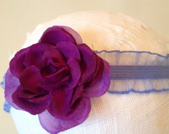 Purple Elastic Ruffle Headband