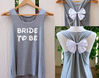 BRIDE-TO-BE Bow Tank Top. Racer back. Bride to be. Tank Top. Bridal Tank Top. Bride-to-Be tank. Bachelorette Party Tank Tops. Bridal shirt