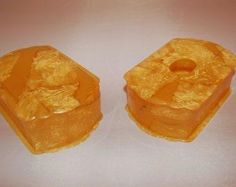 SALE! Art Deco Faux Marble Celluloid Vanity Boxes
