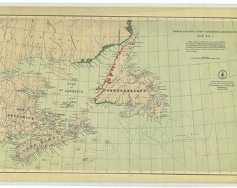 North Atlantic Fisheries Arbitration - Map 1 - 1909