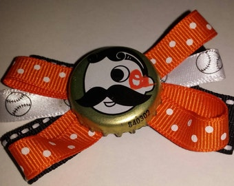 Natty Boh Orioles Hair bow