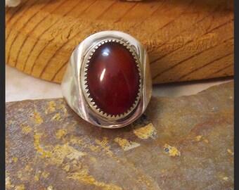 Carnelian Sterling Ring