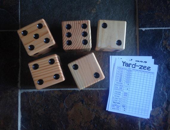 set of 6 yard dice