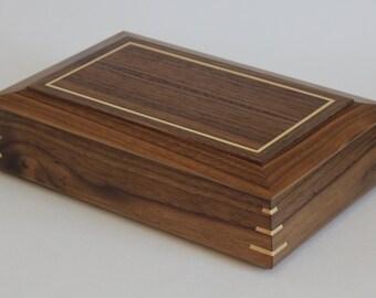 Walnut Keepsake Box with Maple Accents