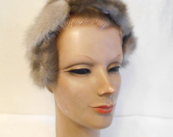 1960's Silver Mink Band/Hat