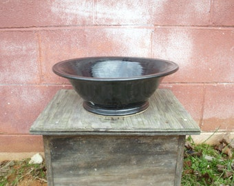 Stoneware Black Footed Vessel Sink Bathroom Sink Kitchen Sink Pottery Sink