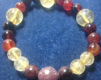 Dreaming Creation Bracelet Ruby, Garnet, Carnelian, and Citrine