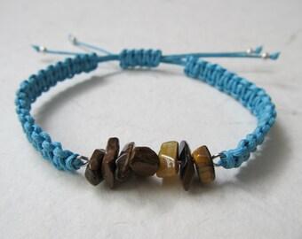 Tiger eye bracelet, macrame bracelet, gemstone bracelet