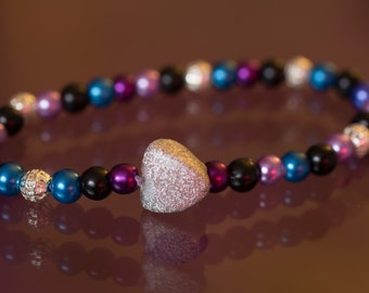 coloured beaded bracelet