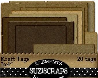 Digital Scrapbooking Chipboard Paper Tags, Mats, Journal Tags, Digital Collage Sheet, Digital Elements, DIY, Digital Files, Instant Download