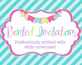 Professionally Printed 5x7 Invitations! By: Simply Blessed Design