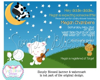 diddle nursery rhyme baby shower invitation diy by