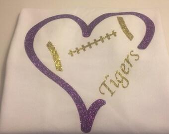 Children's LSU Football Heart T-Shirt
