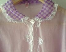 Vtg Mod lingerie sheer gown