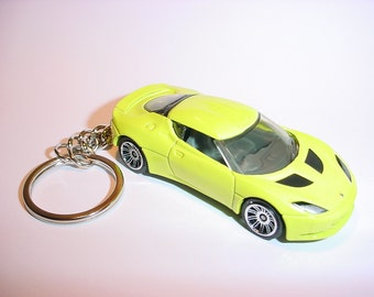 3D Lotus Evora GT custom keychain by Brian Thornton keyring key chain finished in neon color race trim