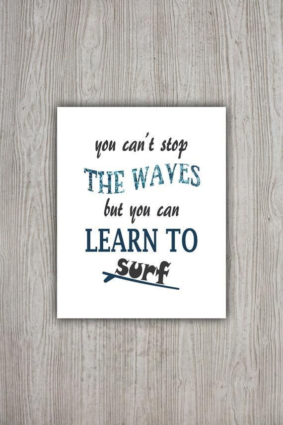 Célèbre Surf Decor Art Print imprimable devise source dinspiration IR45