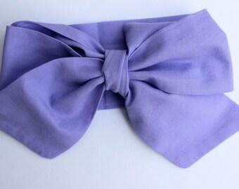 Lavender Head Wrap, Bow