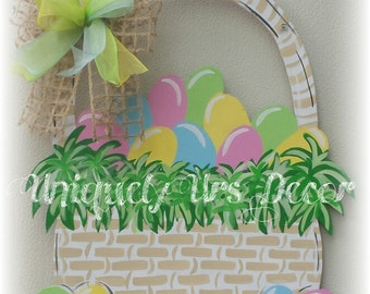 Easter Basket Door Hanger, Easter Door Hanger, Egg Door Hanger, Door Hanger, Basket Door Hanger