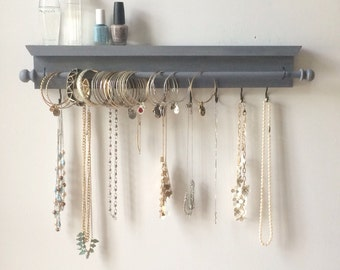Jewelry Organizer - Jewelry Organizer Hanging - Necklace Holder - Bracelet Holder