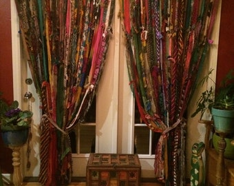 Boho curtains!custom 80 inches wide by 99 long