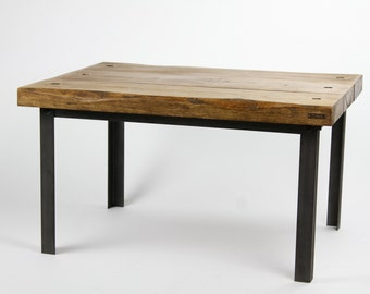 KONK! - Oak/Steel Industrial Coffee Table [Bespoke sizes available!]