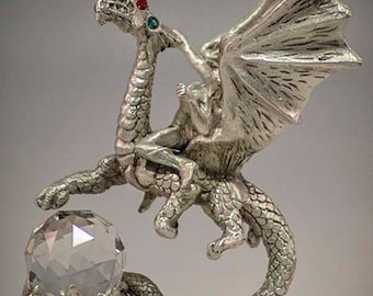 Dragon Rider Pewter Fantasy Collectible 4056