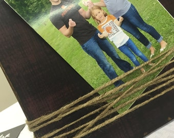 Red Rustic Jute Picture Frame
