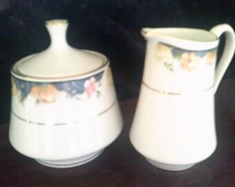 Creamer and Sugar Bowl lidded Winley Porcelain