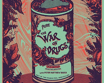 The War On Drugs  Asheville Official Hand-Printed Gigposter *ON SALE*
