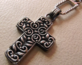 key chain holder cross sterling silver 925 middle eastern jewelry christianity vintage handmade heavy