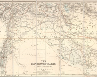 24x36 Poster; Map Of Euphrates River Valley Israel Iraq 1900