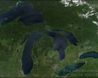 24x36 Poster; Great Lakes