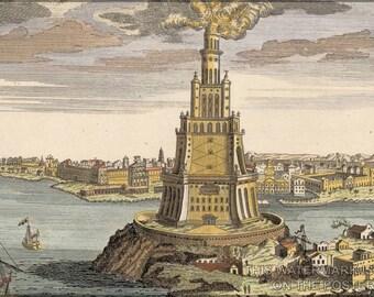 24x36 Poster; Lighthouse Of Alexandria Pharos Of Alexandria