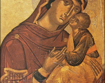 24x36 Poster; Madonna And Child Byzantine