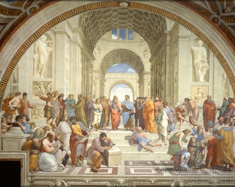 24x36 Poster; School Of Athens, By Raphael 1511-12, Plato Aristotle Socrates