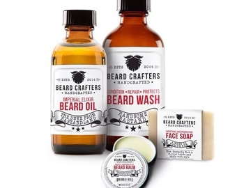 Father's Day Arrogant Deluxe Beard Kit by BeardCrafters, the ultimate Deluxe Beard Care kit