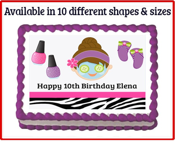 Cake Images Name Of Mani : Glamour Girl Spa Make Up Mani Pedi Makeover Edible Birthday